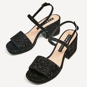 Zara Block Heels Sandals 👡